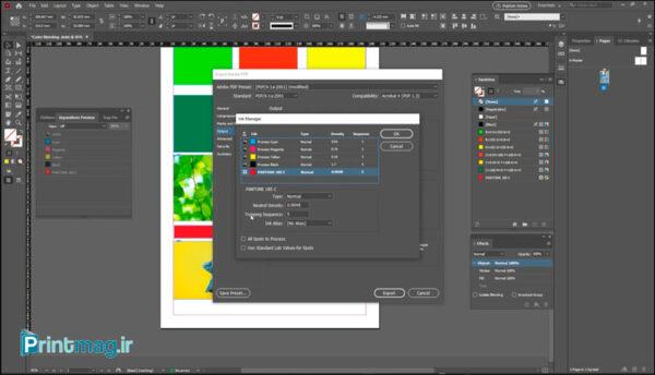 تنظیمات مدیریت رنگ را در نرم افزار ادوبی ایندیزاین